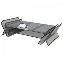 Allsop - 30645 - Allsop DeskTek Monitor Stand - 40 lb Load Capacity - Flat Panel Display Type Supported - 1 x Shelf(ves)20.3 Width - Desktop - Metal - Gray