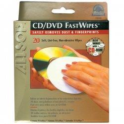 Allsop - 50100 - Allsop 50100 CD/DVD Fast Wipe - White