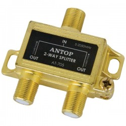 Antop Antenna - AT-705 - Antop Antenna Inc AT-705 2-Way 2GHz Low-Loss Coaxial Splitter