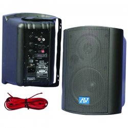 AmpliVox - S1232 - Powered Wall Mount Stereo Speakers