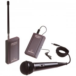 Audio Technica - ATR-288W - Audio-Technica TwinMic ATR288W Wireless Microphone System - 169.51MHz, 170.3MHz System Frequency