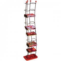 Atlantic - 1386 - Atlantic - DVD Wave Rack - Steel, Wood