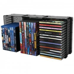 Atlantic - 36635731 - Atlantic Disc Storage Module - 45 x CD, 21 x DVD - Desktop - Black