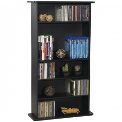 Atlantic - 37935726 - Drawbridge Wood Mm Storage Unit Holds 280 Cds Or 112 Dvds/blu-rays