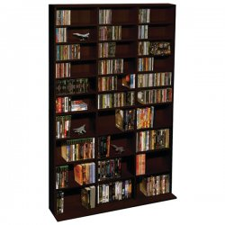 "Atlantic - 38435714 - Atlantic Oskar Media Cabinet - 1080 x CD, 504 x DVD, 576 x Blu-ray - 30 Compartment(s) - 71.3"" Height x 9.1"" Width x 40"" Depth - Wall Mountable - Espresso - Steel, Wood"