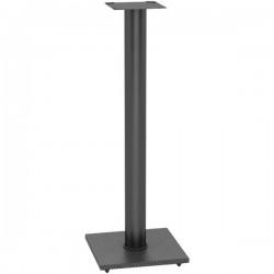 Atlantic - 77335799 - Atlantic Adjustable Bookshelf Black Speaker Stand - 30 Height x 10.5 Width x 10.5 Depth - Steel, Carbon Fiber - Black