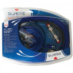 Atrend - SI-8 - Surge SI-8 Installer Series Amp Installation Kit (8 Gauge, 1, 000 Watts)