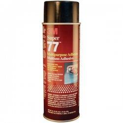 3M - 77L - Scotch Super 77 Multipurpose Spray Adhesive - 1.05 lb - Paper, Foil, Cardboard - Fast-drying - 1 Each - Black