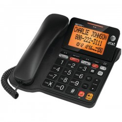 AT&T / VTech - CL4940 - AT&T CL4940 Standard Phone - White - Corded - 1 x Phone Line - Speakerphone - Answering Machine