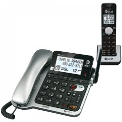 AT&T / VTech - CL84102 - AT&T CL84102 DECT 6.0 Cordless Phone - Silver - Cordless - 1 x Phone Line - 1 x Handset - Speakerphone - Answering Machine - Backlight