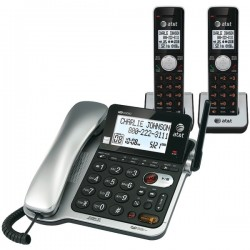 AT&T - CL84202 - ATT Handset Corded and Two Cordless, CL84202 Answering System with Caller ID/Call Waiting