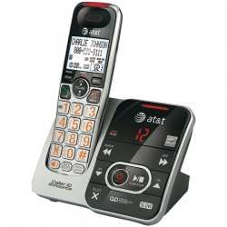 AT&T / VTech - CRL32102 - AT&T CRL32102 DECT 6.0 1.90 GHz Cordless Phone - Silver - Cordless - 1 x Phone Line - Answering Machine
