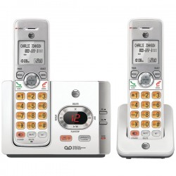 AT&T - EL52215 - AT&T EL52215 DECT 6.0 Cordless Phone - White - Cordless - 1 x Phone Line - 1 x Handset - Answering Machine