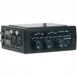 Azden - FMX-DSLR - Azden FMX-DSLR 2 Channel Portable Mic/Line Mixer for DSLR Cameras