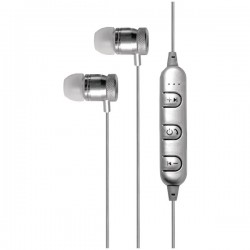 Billboard - BB487 - Billboard BB487 Bluetooth(R) Metal Earbuds with Microphone (Silver)