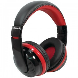 Billboard - BB489 - Billboard BB489 Bluetooth(R) Over-Ear Foldable Headphones with Microphone (Red)