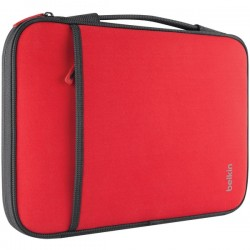 Belkin / Linksys - B2B081-C02 - Belkin Carrying Case (Sleeve) for 11 Netbook, MacBook Air - Red - Wear Resistant - Neopro, Fleece Interior - Handle - 8 Height x 12.6 Width x 0.8 Depth