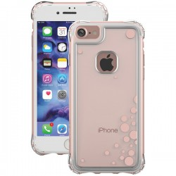 Ballistic Case - JE1738-B49N - Jewel Essence Case iPh 7 Dancing Bubbles Rose Gold