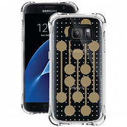 Ballistic Case - JM4091-B16N - Jewel Mirage Case for Galaxy S7 Clear/Gold Pattern
