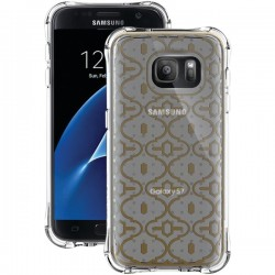 Ballistic Case - JM4091-B18N - Jewel Mirage Case Galaxy S7 Clear/Gold Pattern