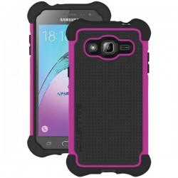Ballistic Case - TJ1708-A19N - Tough Case for Samsung J3 in Hot Pink/Black
