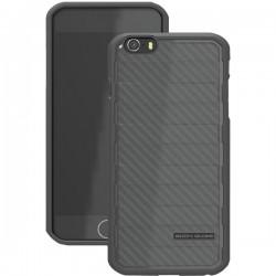 Body Glove - 9446402 - Body Glove Rise iPhone 6 - iPhone - Black - Raised Ridge Pattern - Brushed Metal - Gel