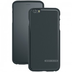 Body Glove - 9459002 - Body Glove Satin iPhone 6 Plus - iPhone 6 Plus - Black - Textured - Satin, Brushed Aluminum, High Gloss