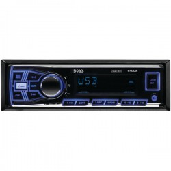 Boss Audio Systems - 610UA - BOSS AUDIO 610UA Single-DIN MECH-LESS Multimedia Player (no CD or DVD), Receiver - Plays   MP3/USB/SD