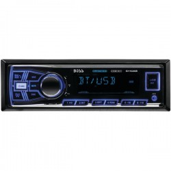 Boss Audio Systems - 611UAB - BOSS AUDIO 611UAB Single-DIN MECH-LESS Multimedia Player (no CD or DVD), Receiver, Bluetooth - Plays   MP3/USB/SD