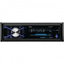 Boss Audio Systems - 632UAB - BOSS AUDIO 632UAB Single-DIN MECH-LESS Multimedia Player (no CD or DVD), Receiver, Bluetooth, Detachable Front Panel, Wireless Remote - Plays   MP3/USB/SD