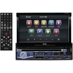 Boss Audio Systems - BV9976B - BOSS AUDIO BV9976B Single-DIN 7 inch Motorized Touchscreen DVD Player, Receiver, Bluetooth, Wireless Remote - Plays   CD?R/RW, DVD?R/RW, MP3/DVD/CD/USB/SD