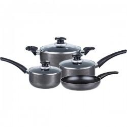 Brentwood Appliances - BPS-107 - Brentwood Appliances BPS-107 7-Piece Aluminum Nonstick Cookware Set (Gray)