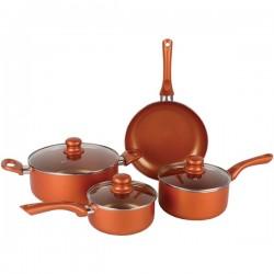 Brentwood Appliances - BPS-107C - Brentwood Appliances BPS-107C 7-Piece Ceramic Aluminum Nonstick Cookware Set