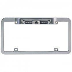 Boyo - VTL200CIR - License Plate 1/4 DSP Color CCD Camera w/Distance Grid - Zinc Metal Chrome