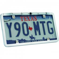 Boyo - VTL275 - Ultra Slim License Plate Color Camera with 175 Wide Angle - Zinc Metal Chrome