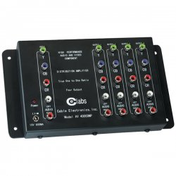 CE Labs / Cable Electronics - AV400COMP - CE Labs AV400COMP 1 x 4 HDTV Component Audio Video Distribution Amp