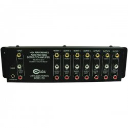 CE Labs / Cable Electronics - AV700 - 1x7 Composite Video & Stereo Audio RCA Distribution Amp