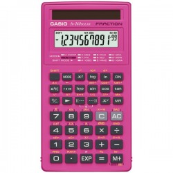 Casio - FX-260SLR-PK - Casio FX-260Solar Scientific Calculator - Automatic Power Down, Sign Change, Protective Hard Shell Cover, Slide-on Hard Case - 1 Line(s) - 12 Digits - Solar Powered - Pink