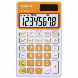 Casio - SL-300VC-OE - Casio SL-300VC Portable Calculator - 8 Digits - Battery/Solar Powered - Carrot Orange