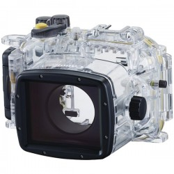 Canon - 9837B001 - Canon WP-DC54 Underwater Case for Camera - Black, Translucent - Water Proof, Weather Proof - Neck Strap