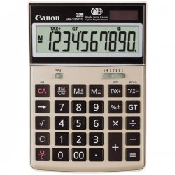 Canon - 1073B010 - Canon HS1000TG Desktop Display Calculator - 10 Digits - LCD - Battery/Solar Powered - 1.4 x 4.6 x 6.7 - Champagne Gold