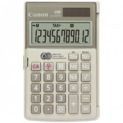 Canon - 1075B004AA - Canon LS-154TG Handheld Calculator - 12 Digits - LCD - Battery/Solar Powered - 0.4 x 4.8 x 3.1