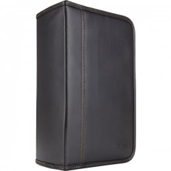 Case Logic - KSW-128TBLACK - Case Logic KSW-128T Optical Disc Case - Wallet - Faux Leather - Black - 144 CD/DVD