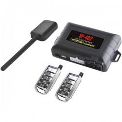 Crime Stopper - SP-402 - Crimestopper SP-402 1-Way Combo Alarm and Remote Start System - 1-way - 2 x Transmitters - 1500 ft - Shock Sensor, Tachometer Sensor