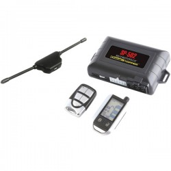 Crime Stopper - SP-502 - Crimestopper SP-502 2-way LCD Security and Remote Start Combo - 2-way - 2 x Transmitters - 3000 ft - Shock Sensor