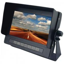 Crime Stopper - SV-8700 - Crimestopper SecurView SV-8700 7 LCD Car Display - Black - 800 x 480 - Dash Mount