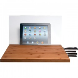 CTA Digital - PAD-BCBG - CTA Digital Cutting Board with Screen Shield - Chopping board - Height 0.7 in - bamboo