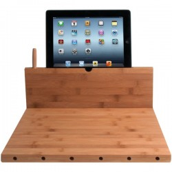 CTA Digital - PAD-BCBS - CTA Digital Cutting Board with Stand - Chopping board - Size 14.13 in x 14.25 in - Height 0.7 in - bamboo