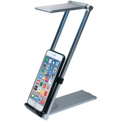 CTA Digital - PAD-FLD - CTA Foldable LED Desk Lamp Stand - Stand for cellular phone / tablet - desktop stand