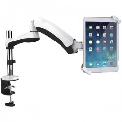 CTA Digital - PAD-HASM - CTA Digital Heavy-Duty Articulating Tablet Security Arm Mount - 13 Screen Support - White